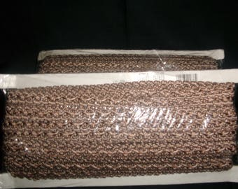 Brown and Taupe Flat Braiding