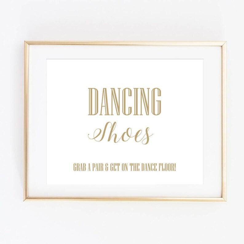 e6829b69bb03c Dancing Shoes Sign Printable Wedding Signs Flip Flops Basket