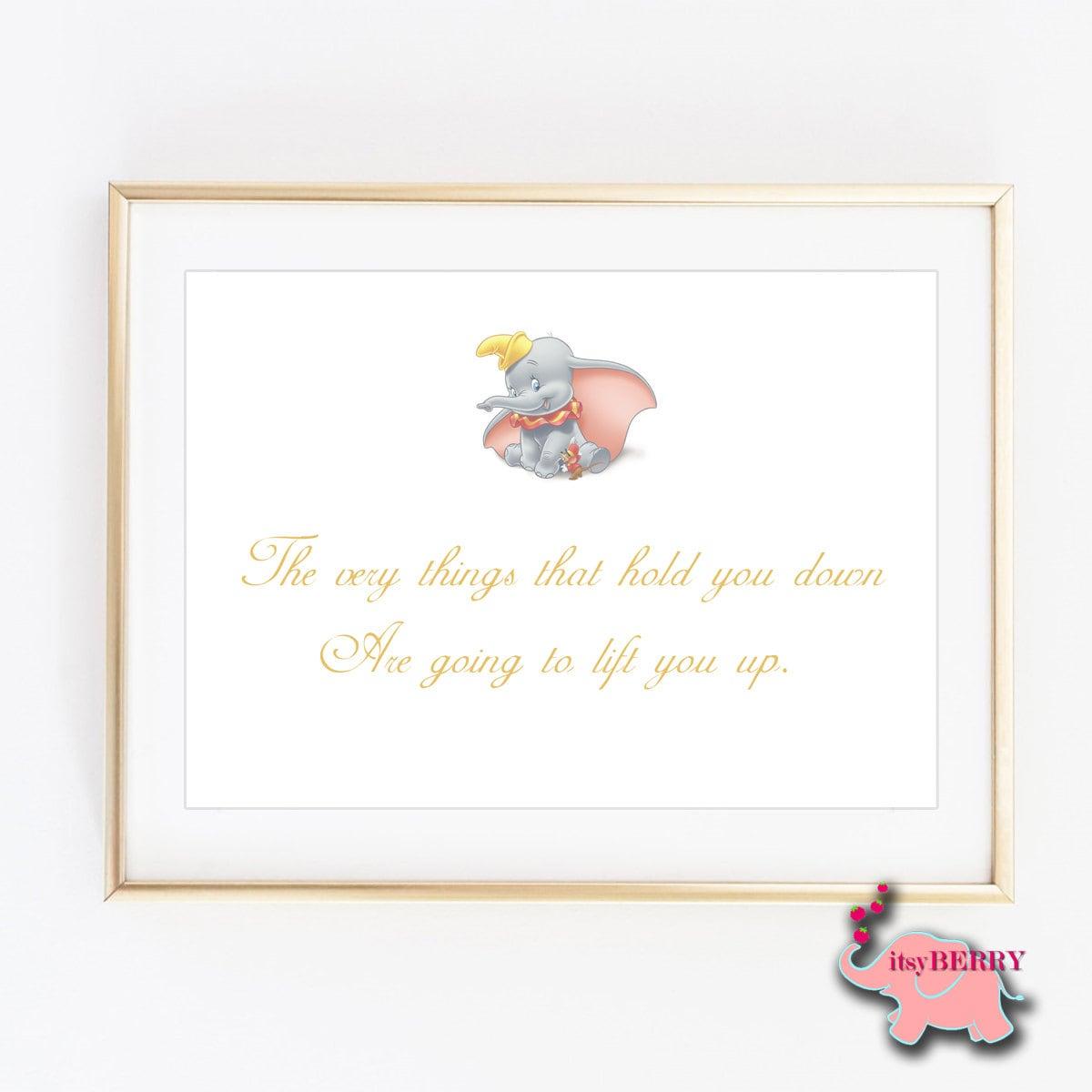 Dumbo Zitat Wandkunst Baby-Dusche-Geschenk Geschlecht   Etsy