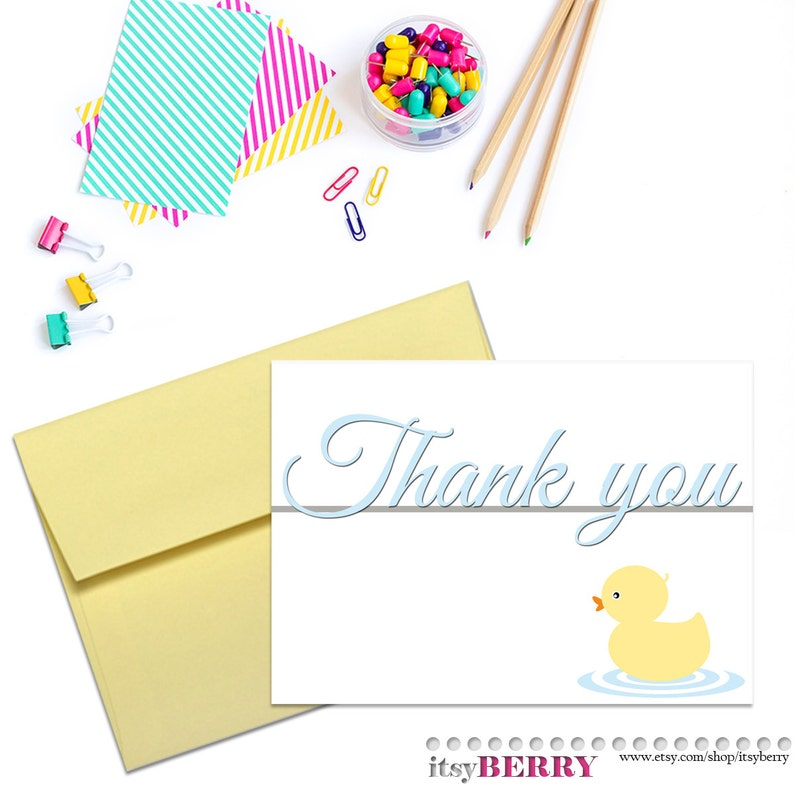 Instant Download Baby Shower Thank You Card PRINTABLE Gender Neutral Cards Digital File Card from Parents To Be