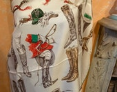 Hermes A propos de Bottes Hermes scarf , for 150 years Italia united ( 1861-2011) limited editon .