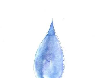 Drop Original Watercolor Painting