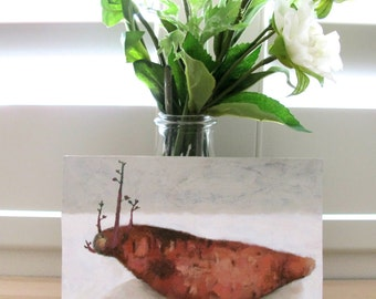 Acrylic Painting - Sweet Potato Sprouting Study - Australian Artist Shellie Cleaver