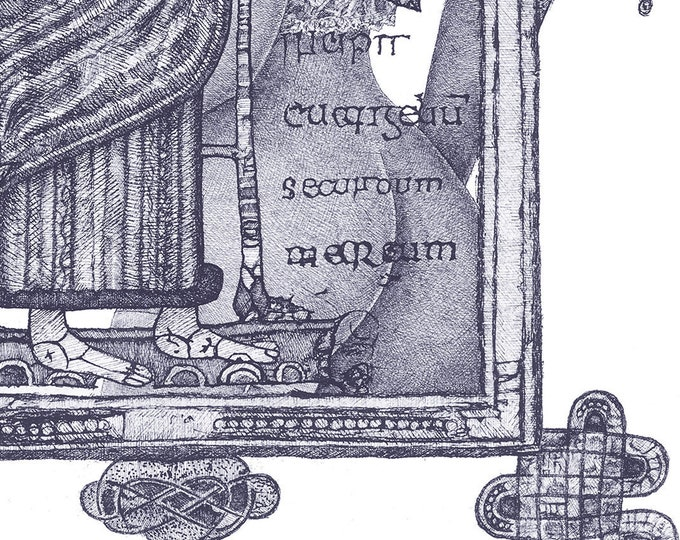 Fine Art Giclée Prints, In Principio_2_indigo blue (Limited Edition of 76, different sizes)