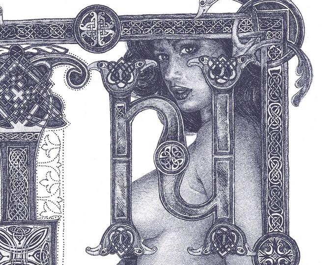 Fine Art Giclée Prints, In Principio_1_ indigo blue  (Limited Edition of 76, different sizes)
