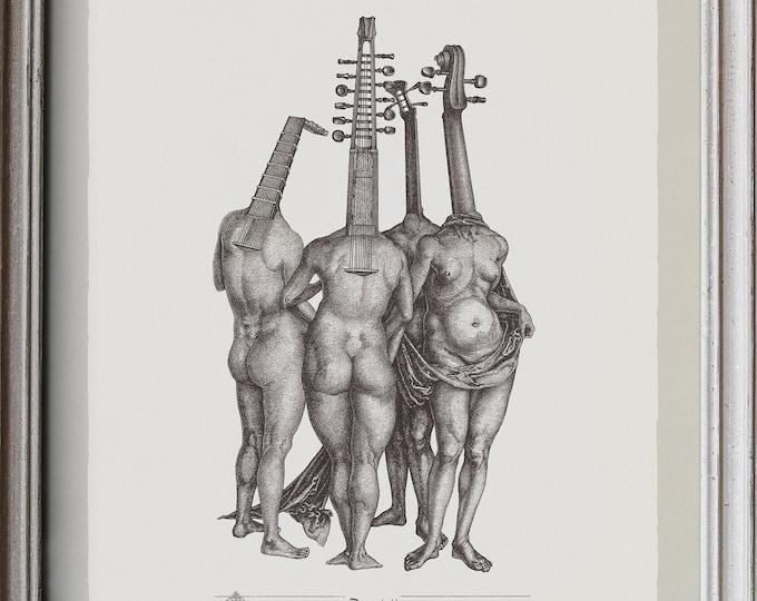 Fine Art Giclée Prints, Quartett  (limited edition of 76, different sizes)