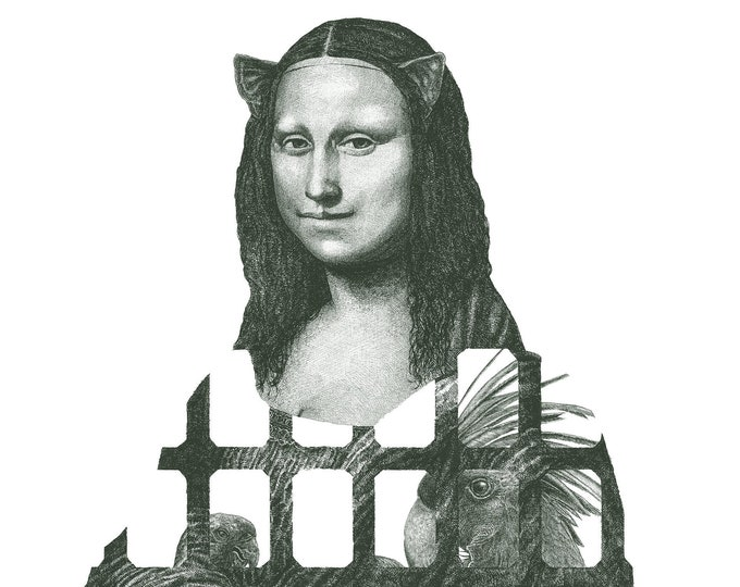 Fine Art Giclée Prints, Mona Lisa (green) (Limited Editions of 76, different sizes)