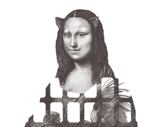 Fine Art Giclée Prints, Mona Lisa (gray) (Limited Editions of 76, different sizes)