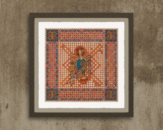 Fine Art Giclée Prints, The 4 Evangelist Symbols - inspired by the Book of Kells. John.