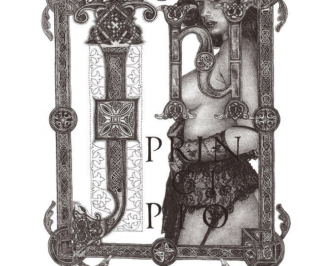 Fine Art Giclée Prints, In Principio_1  grey (Limited Editions of 76, different sizes)