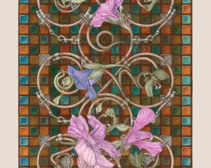 Fine Art Giclée Prints, Surrealism, Baroque, Vintage, Antique, Limited Edition, Fleurs du Mal II