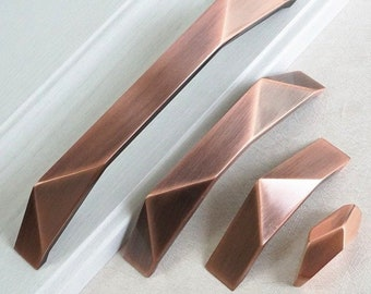Copper Cabinet Pulls Etsy