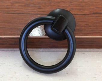 Dresser Knobs Pull Drawer Pulls Knob Handles Drop Ring Pulls Antique Black  / Vintage Style Kitchen Cabinet Door Handle Pull Knob Hardware