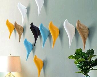 More colors. Bird Hook Decorative Wall ... & Wall hooks | Etsy