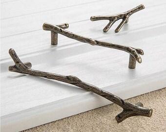 12X Drawer Cabinet Knobs Pulls Hardware Handles Vintage Tree Branch Twig Knob C