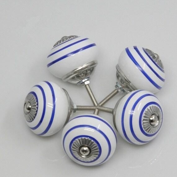 Keramische Kabinettdrehknöpfe Schrank Knöpfe Porzellan weiß