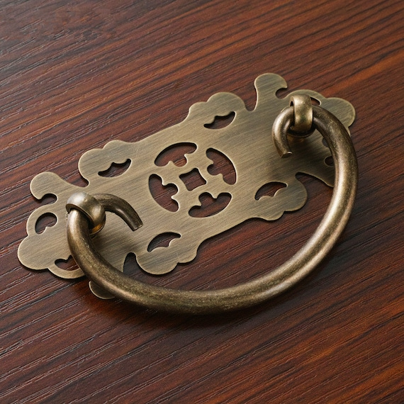 image 0 - Chinese Style Drawer Pull Handle Antique Bronze Cabinet Pull Etsy