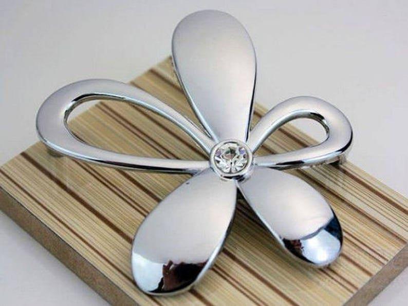 25 Silber Glas Möbel Griffe Schublade Zieht Knauf Griff Etsy