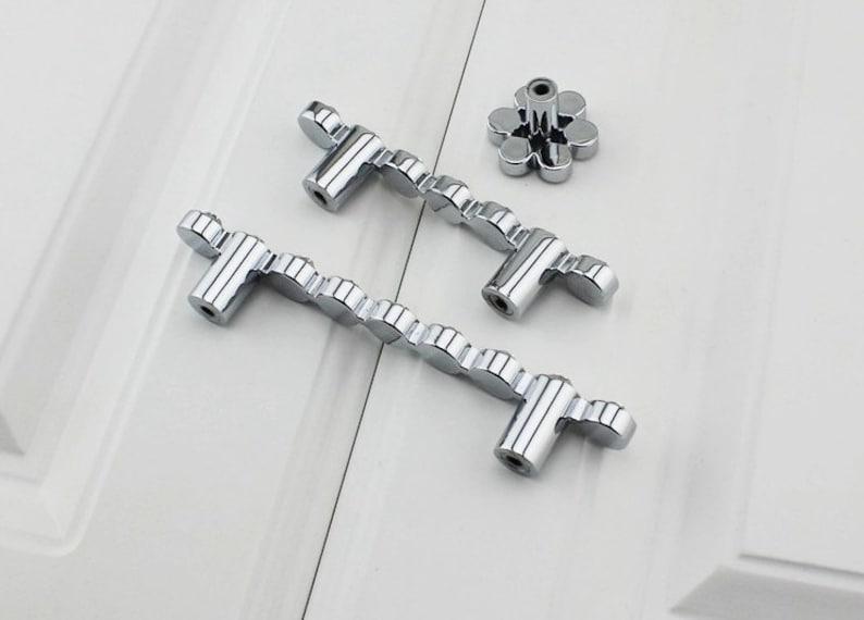2.5/'/' 3.78/'/' Crystal Drawer Pulls Handles Silver Clear Bling Glass Dresser Handles Pulls Knobs Kitchen Cabinet Door Pulls Knobs Decorative