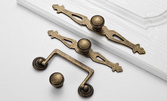 image 0 - Antique Bronze Dresser Drawer Pulls Knobs Back Plate Furniture Etsy