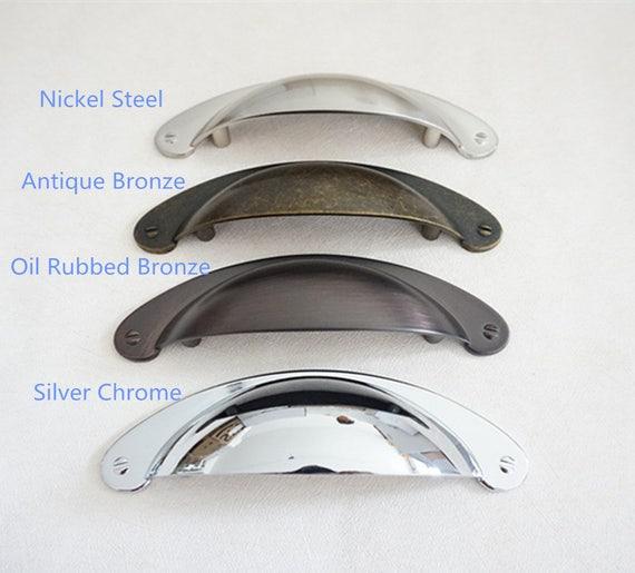3 Vintage Dresser Knobs Pulls Door Handles Pulls Knobs  Drawer Knob Pull Handles Cabinet Pulls Oil Rubbed Bronze Antique Black Silver 76mm