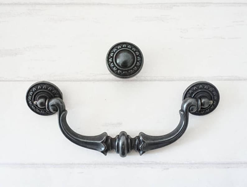 3.5 5.5 Drawer Knobs Handles Pulls Drop Bail Dresser Knob Pull Dark Antique Bronze Kitchen Cabinet Handle Rustic 3 12 5 12 89 140 mm