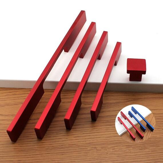 Rote Kommode Knöpfe große Griffe Griffe Knopf Tür Griffe Küche | Etsy