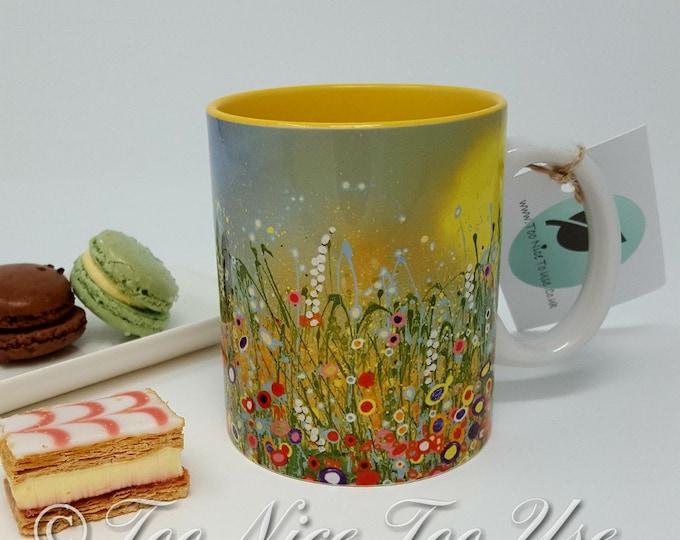 Durham 11oz Art Print Mug with Original Art Print 'Bright & Beautiful'