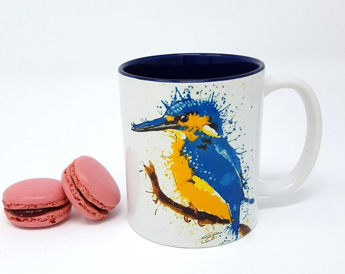 Durham 11oz Ceramic King Fisher Art Print Mug.