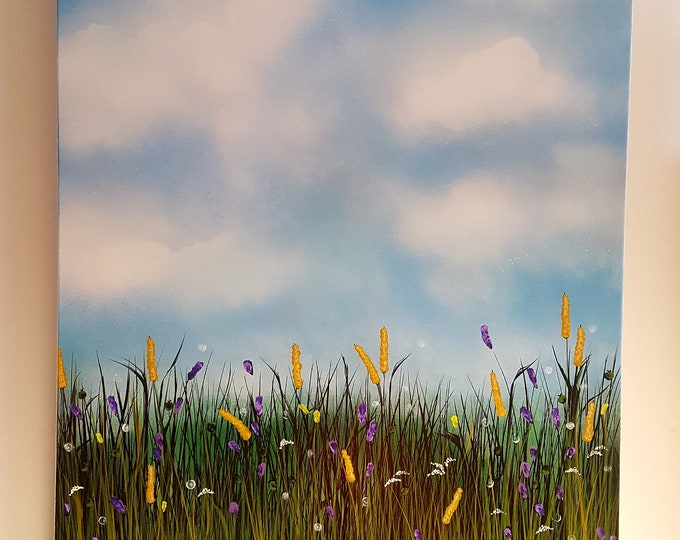 Original Acrylic Painting 'Lavender Meadow #1'