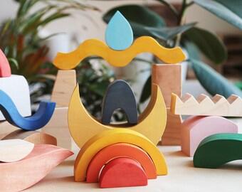Wooden blocks, Wooden toy, Waldorf toy, Wooden blocks waldorf, Waldorf blocks
