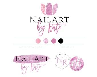 Nail Artist Logo Logo Design Nail Salon Logo Gel Nail Logo Etsy