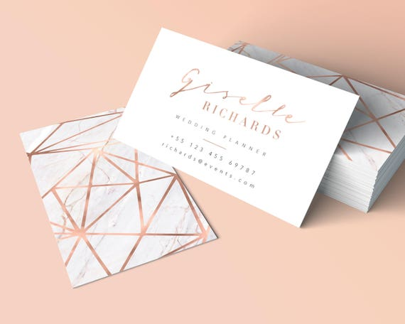 image 0 - Rose Gold Business Cards