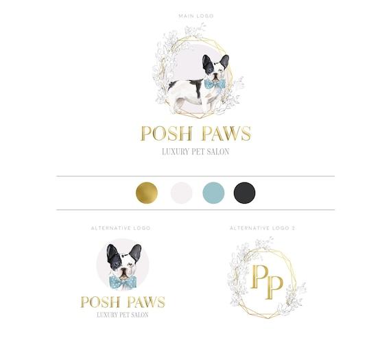 Pet Salon Grooming Logo Design, Pet Spa, Pet Care, Dog Grooming, Luxury Pet  Salon, Pooch, Frenchie Dog, Watercolor Dog Logo, Pet Branding
