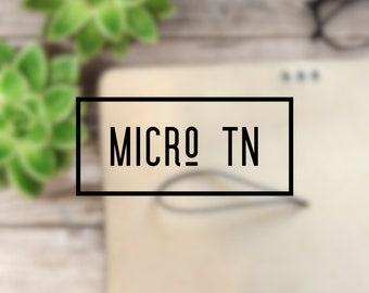 Micro Travelers Notebook Keelindori