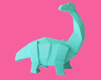 Origami Mini Dippy Diplodocus dinosaur Lamp