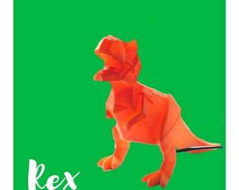 Origami Mini Rex the T Rex dinosaur Lamp