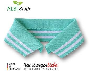 Polo Me College 11 Polo Collar A70 Verdino Mint White Albstes Hamburger Love Organic Cotton-Size Selection S M