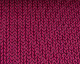Hamburger Love Big Knit Knit Ciclamino Pink Jersey Organic Fabric Jacquardjersey Organic Cotton Knitting Fabric Albstoff