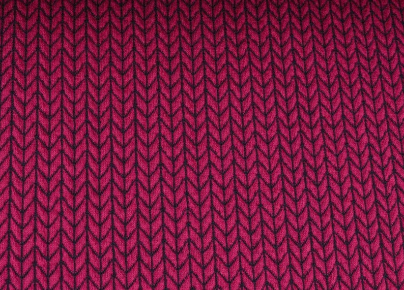 Hamburger Love Big Knit Knit Ciclamino Pink Jersey Organic image 0