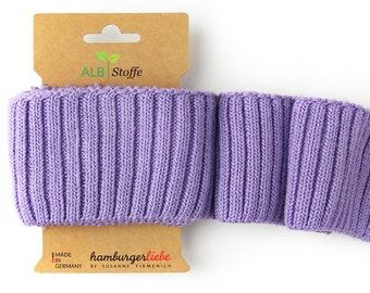 Cuff me cozy A82 Glicine lilac purple violet organic cuffs Albstoffe hamburger love biocuffs this summer knit cuffs