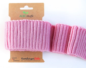 Cuff me cozy A34 rosé melange pink pink organic cuffs Albstoffe hamburger love biocuffs