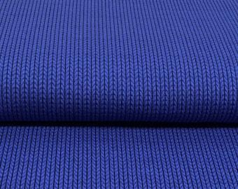 Hamburger Love Knit Knit Bluette Navy Dark Blue Jersey Organic Fabric Jacquardjersey Organic Cotton Knitting Fabric Albstoff