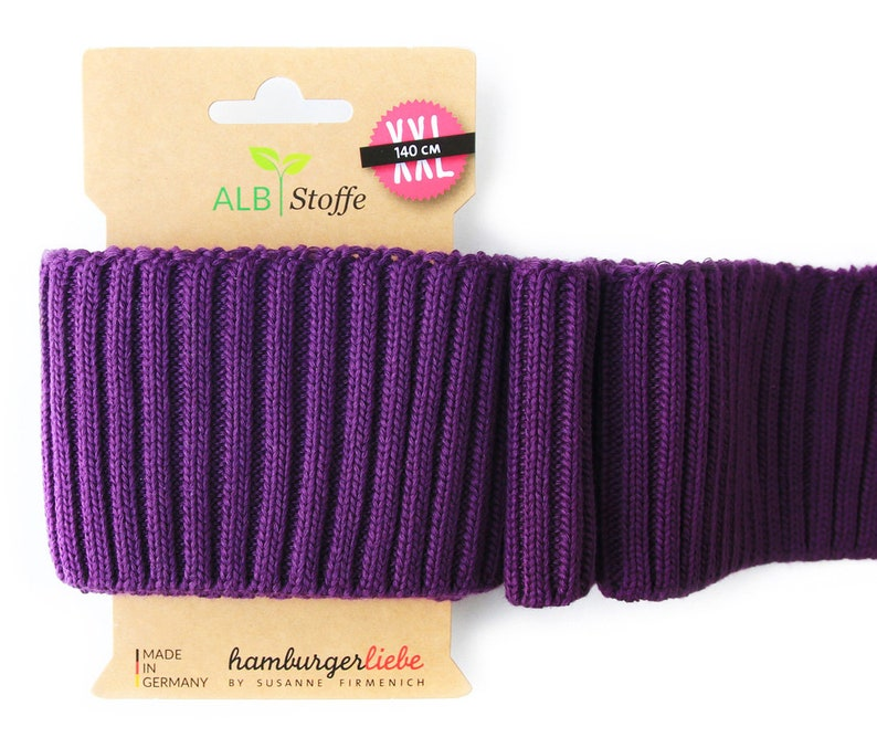 Cuff Me Cozy A85 Viola Purple Violet Check Point Chunky image 0