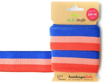 Stripe Me College 19 Blue Red Bluette Nude Luce Rosso Band Striped Albstes Hamburger Love Check Point Organic Ribbons