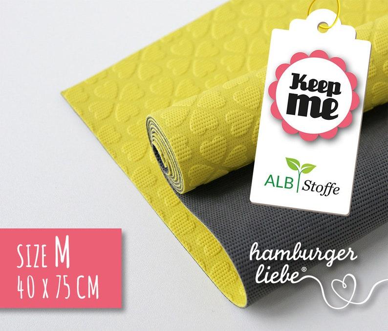 Keep Me M 40 x 75 cm yellow dark grey albstes-natural rubber image 0