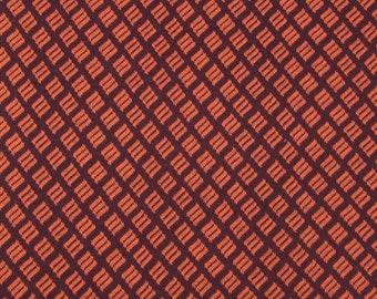 Hamburger Love Botanicals Check Bordeaux Claret Orange red Albstoffe jacquard organic jersey 100% cotton gots KBA