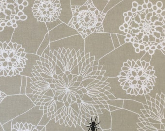 Cotton+Steel Fabric - Spellbound - Doily Web Grey quilting cotton fabric