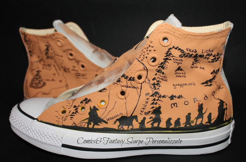c497a7f641 Lord of the Rings Custom shoes Converse