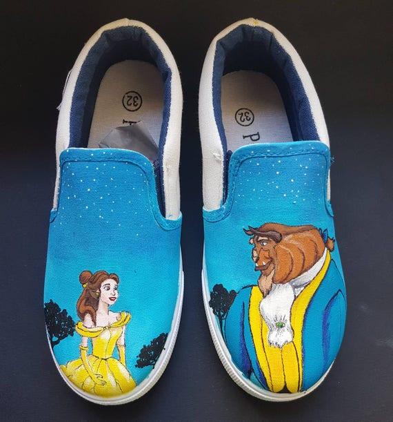 Beautiful and the Beast Disney-Vans | Etsy